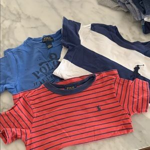 3 boys Polo Ralph Lauren t shirts. Size 3T.
